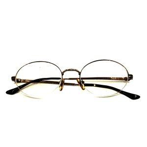 Vintage Brooks Brothers Brown Metal Eyeglasses